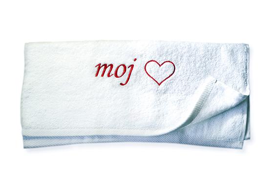 moj - Brisača z logotipom